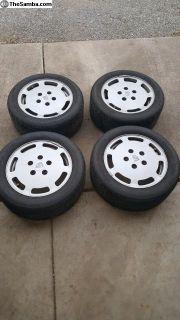 """Porsche 928 wheels 16"""" set of 4 staggered"""