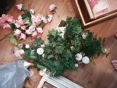 Lot de fleurs articielles