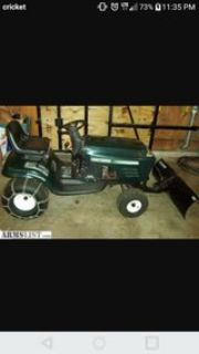 craftsman mower snow plow
