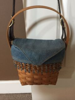 Longaberger Purse with liner, protector, and strap