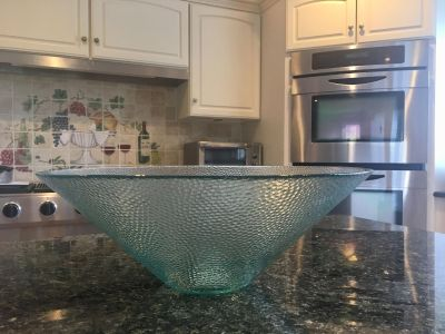 Large glass bowl from Homegoods