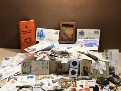 Lot of OLD Vintage and Antique items tobacco cards, knives etc. -ALL for one price