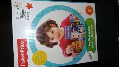 Fisher Price-My First Wood Activity block Set
