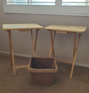 TV Trays with basket!
