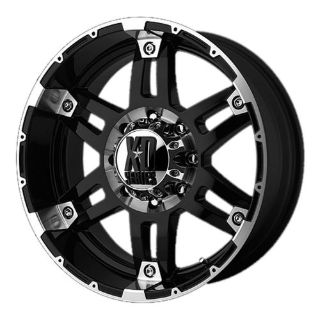 "Buy 8 Lug 165.1 6.5 17"" Inch Black n Machined Wheels 17x9 -12mm Set of 4 Rims motorcycle in Rancho Cucamonga, California, United States, for US $835.20"