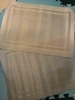 Silver and gold placemats nwot