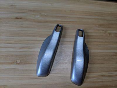 Rhodium silver key trim