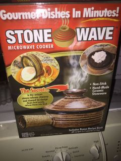 Stone wave microwave cooker $1.00