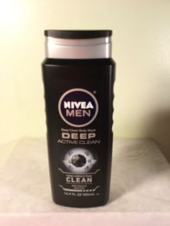 Nivea men deep active clean with natural charcoal body wash