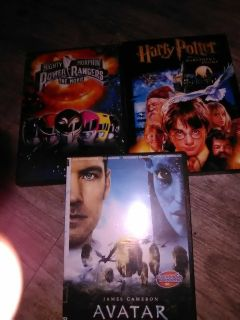 Harry Potter and the Sorcerer Stone, The Power Rangers Movie and Avitar