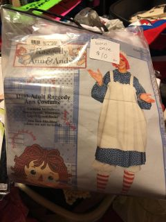 Raggedy Ann costume adult size