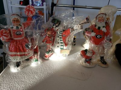 Georgia Bulldog Christmas Statues