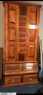 For Sale: Large solid wood gun cabinet