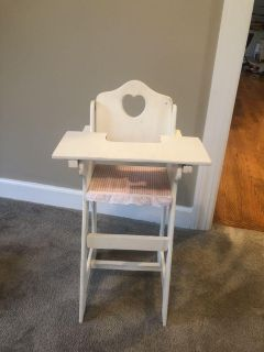 Baby doll high chair. Wooden