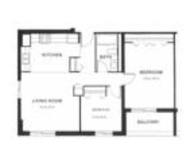 Capitol Centre Court Apartments - Two BR One BA floors 1-5