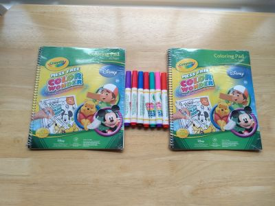 Two new color Wonder books with 7 color Wonder markers