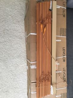 Window blinds real wood