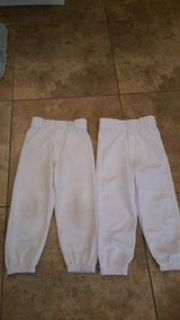 white youth extra small baseball pants