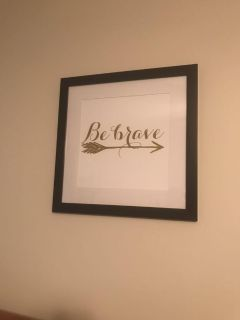 Be Brave Wall Art