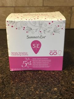 Summer s Eve 5in1 simply sensitive cleansing wipes - 16 count
