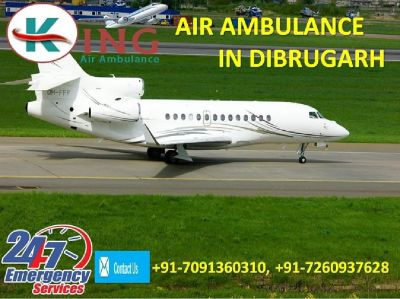Hire Instant ICU Assistance Air Ambulance in Dibrugarh by King