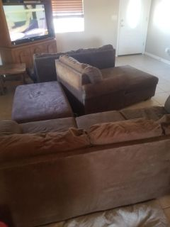 3 piece sectional with ottoman
