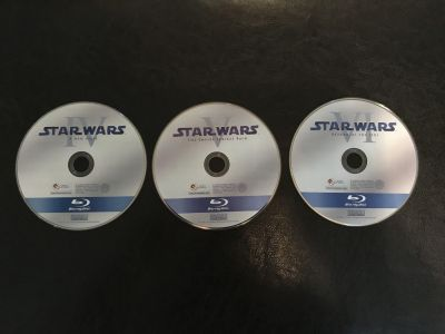 Star Wars! IV, V, VI! Blu Ray! NEW! Without cases/packaging