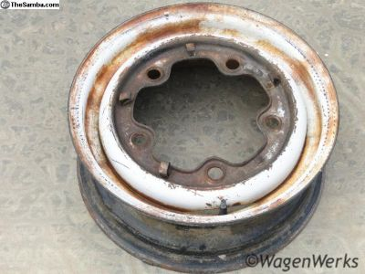 14 inch Bus Wheel 1964-70 Og Paint #1