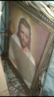 Antique frame with pic $60