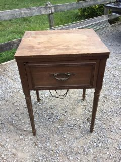 Old Kenmore sewing machine cabinet