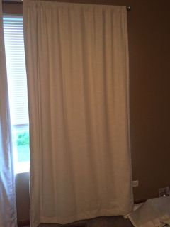 White blackout curtain panel, Project 62 brand from Target. 50 wide, 84 long. Like new condition. Used only a few months.