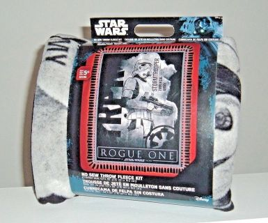 NEW Star Wars ROGUE ONE No Sew Fleece Throw Blanket Kit STORM TROOPER Imperial