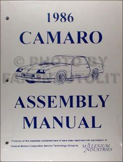 Find 1986 Chevy Camaro plus Z28 and IROC Factory Assembly Manual 86 Chevrolet motorcycle in Riverside, California, United States, for US $20.00