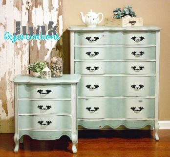 French Provincial dresser and nightstand set