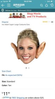 ISO - big ears for Halloween , NOT pointy