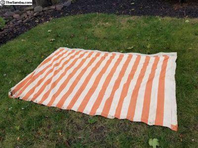 westfalia orange striped tent side