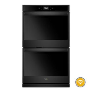"""Whirlpool Black 27"""" Smart Double Wall Oven *Discontinued* WOD77EC7HB"""
