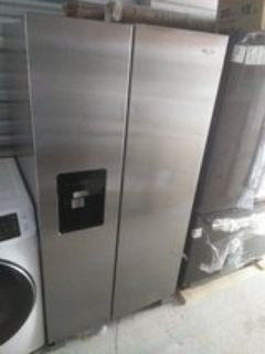 Whirlpool side-by-side stainless steel refrigerator