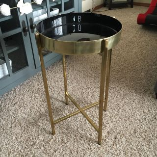 New gold and black side table