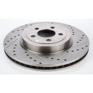 Sell JEGS Performance Products 632200 HP Drilled & Slotted Brake Rotor motorcycle in Delaware, Ohio, United States, for US $68.99