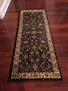 """New Safavieh Lyndhurst Collection Traditional Oriental Black and Ivory Runner 2'3"""" x 6'"""