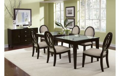 Cosmo 6 chair dining set with buffet