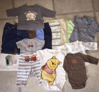 Lot of 0-6 Months Boys Clothes: 15pc + Itzbeen