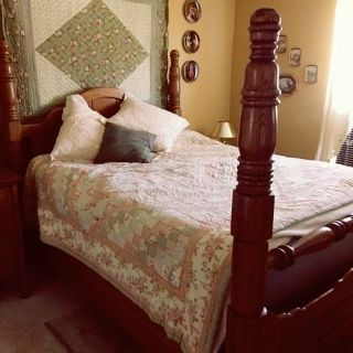 ANTIQUE QUEEN SIZE BED ..1/2 PRICE