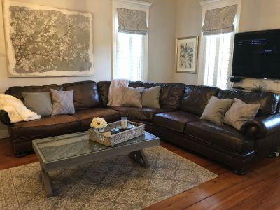 Weirs Bernhardt leather sectional sofa