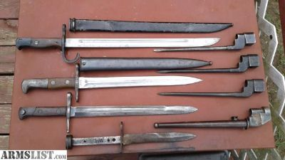 For Sale: Lot of Mixed Bayonets