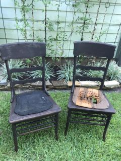 2 solid wood antique project chairs FREE