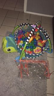 Turtle Play Mat/Activity Gym + Ball Pit