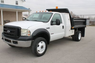 """2006 Ford F-550 Diesel Dump Truck """"Bullet Proofed"""" Low Miles 10776"""