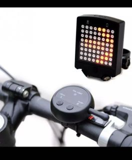 64 LED Wireless Remote Laser Bicycle Rear Tail Light Bike Turn Signals Safety Warning Light It comes with a USB charger